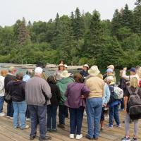 We were met by Valerie, Park Ranger, who provided an introduction to the Isle Royale Park.