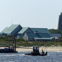 On the ferry approaching Bald Head Island provided our first view of the lighthouse.
