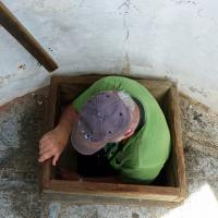 Getting into the lantern room at Old Baldy was easy for some – not so easy for some others!