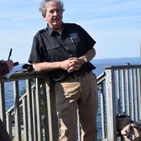 Scott Holman discusses how he has renovated the once dilapidated structure literally on a huge rock in Lake Superior