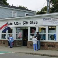 When we past a gift shop on the way to view the Plymouth Rock, a sharp gift shop owner saw our bus and opened his doors early.  After our gift shop starved group got done, he was able to close for the remainder of the month!