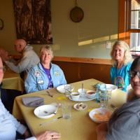 Bruce, LaVon, Lean and Charlene wait for dinner.
