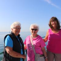 Janice, Dorothy and Carol on Detroit River Cruise