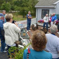 Dave Ball not only opened up the Mossing Museum for us, he provided us information about the Scituate and Minot Ledge