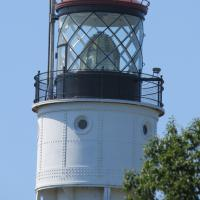 A fixed 4th order Fresnel lens at Devil's Island.
