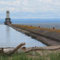 The weather cleared and we had a clear picture of the Keweenaw Lower Waterway Entrance.