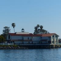 Hams Restaurant Aid to Navigation Harbor Light in San Diego