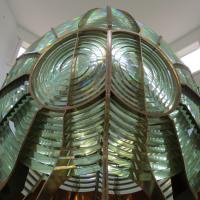 Original 2nd Order Fresnel Lens from Rock of Ages Lighthouse is on display at Windigo.