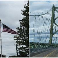 Ogdensburg-Prescott International Bridge connects USA and Canada