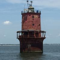 Another view of Thimble Shoal Lighthouse
