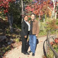 Sheila and Jeff enjoying fall color