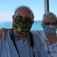 Steve and Leona on Detroit River Cruise