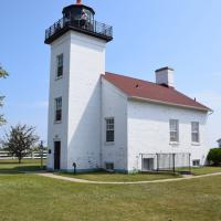 Sand Point (Escanaba) is maintained by Delta County Historical Society.