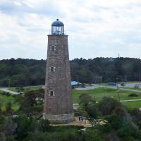 The oldest lighthouse we saw on the tour was the Old Cape Henry Lighthouse, built in 1792.