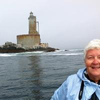Everyone wanted their picture taken with this lighthouse, including Jan, so they could prove they were here.