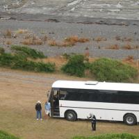 Special bus that transported us to Cape Campbell Lighthouse