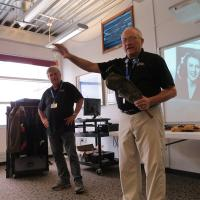 A 'Foot Locker' presentation demonstrated items carried during WWII.
