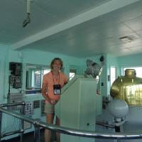 Diane at Dossin Great Lake Museum