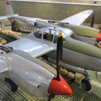A replica of the plane Dick Bong flew to achieve being the most decorated pilot in WWII.