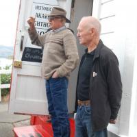 Greeters at Akaroa Lighthouse
