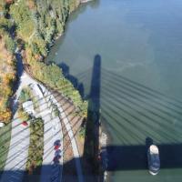 Shadow of the Penobscot Bridge