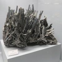 One of many mineral specimens at the Seaman Museum.