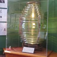The H. Lee White Maritime Museum exhibits the 4th order Fresnel lens originally in Oswego Pierhead
