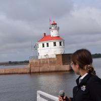 Kate narrates as we pass Wisconsin Point.