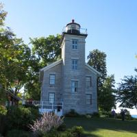 Sodus Bay Lighthouse houses a museum dedicated to the history and culture of Sodus Bay, NY