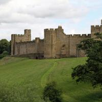 Alnwick (pronounced ann-ick) Castle was used in several Harry Potter movies.