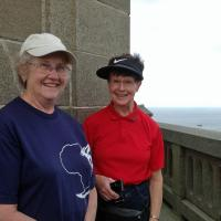Betty & Peggy at the top of Phare d'Eckmulh