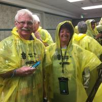 Bob and Cheryl ready for Behind the Falls