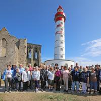 Brittany Tour Group photo at St. Mathieu.