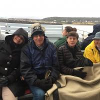 Cassandra, Bill, Peggy and Bill on the Boat