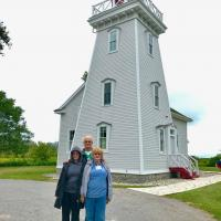 Cassandra, Jerry and Marjie at Long Point Cut Lighthouse