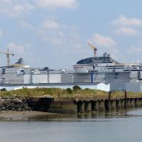 Saint-Nazaire is a major ship building center - We passed the almost completed Celebrity Edge
