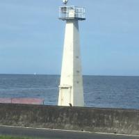 Coconut Point Light in Hilo Harbor