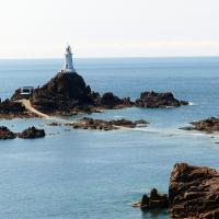 When the tide goes out, Corbiere sits on an island.