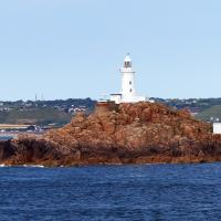 Another great view of the Corbiere Lighthouse - this one from the ferry on the way to Guernsey