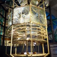 The highlight of the museum of lighthouses and beacons was the original lens from the Cordouan Lighthouse.