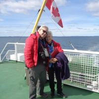 Sandy and Bob on the ferry to Grand Manan Island