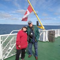 Kathryn & Dave on the ferry to Grand Manan Island