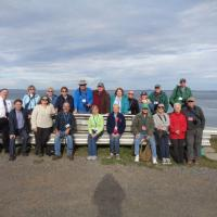 Group enjoying a Grand Manan Island vista