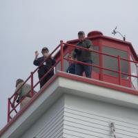 Kathryn & Dave at the top of the Swallowtail Lighthouse