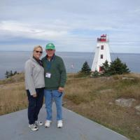Diane & Ned at the Swallowtail Lighthouse