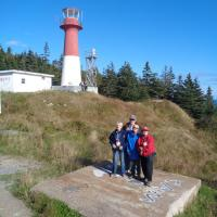 Nancy, Joe, Jill & Kathryn at the Cape Spencer Lighthouse, New Brunswick.