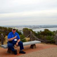 George relaxing at Cabrillo National Monument, home of the Point Loma Lighthouse