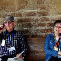 Chris & Janet making plans at San Juan Capistrano
