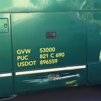 Damage to our bus at Maui Port