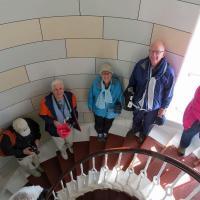 Darlene, Ken, Dianne & Glen climbing to the top of Isle of May.